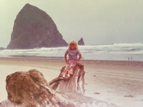 I sent him this photo of me when I was little. How awesome are those pants?