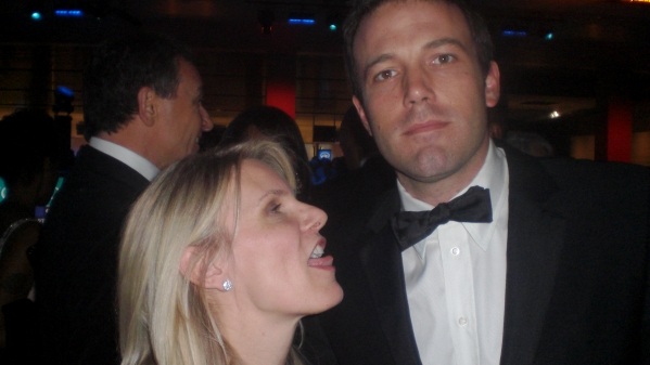 Who else besides a girlfriend will take a picture of you licking Ben Affleck?