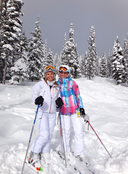 Girlfriends understand that posing for cute ski pics is as important as the skiing itself
