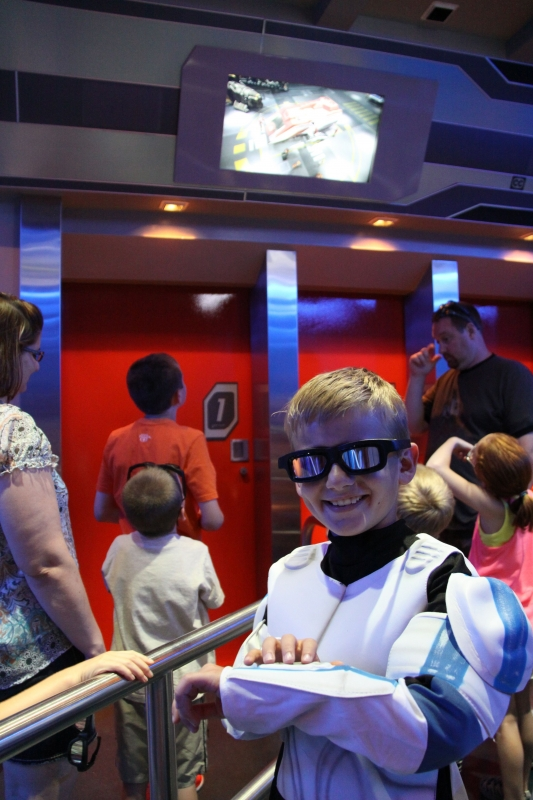 How many times can one child go on Star Tours?