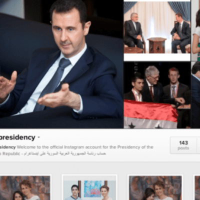 Syria vs. The White House on Instagram