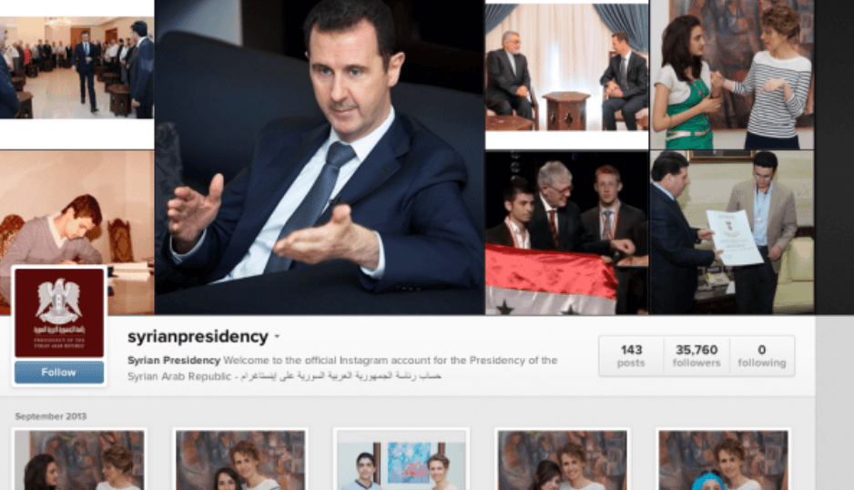 Syria vs. The White House on Instagram
