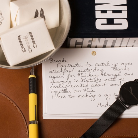BOND gifts handwritten note