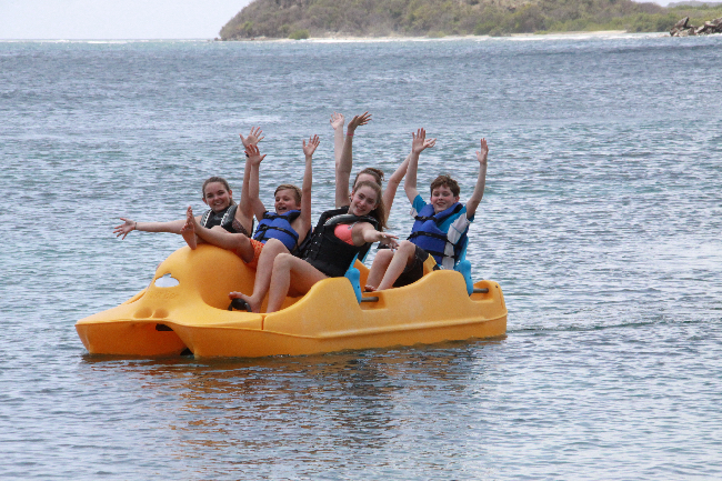 Curtain Bluff family vacation