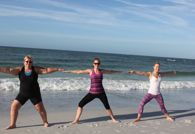 yoga on the beach Sarasota resort