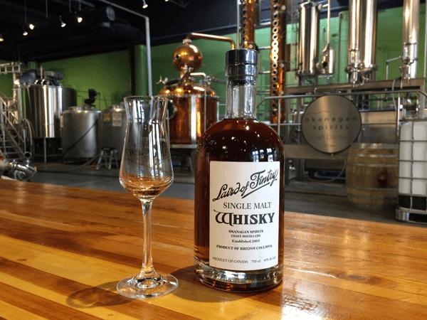 whisky tasting at Okanagan Spirits Laird of Fintry Whisky