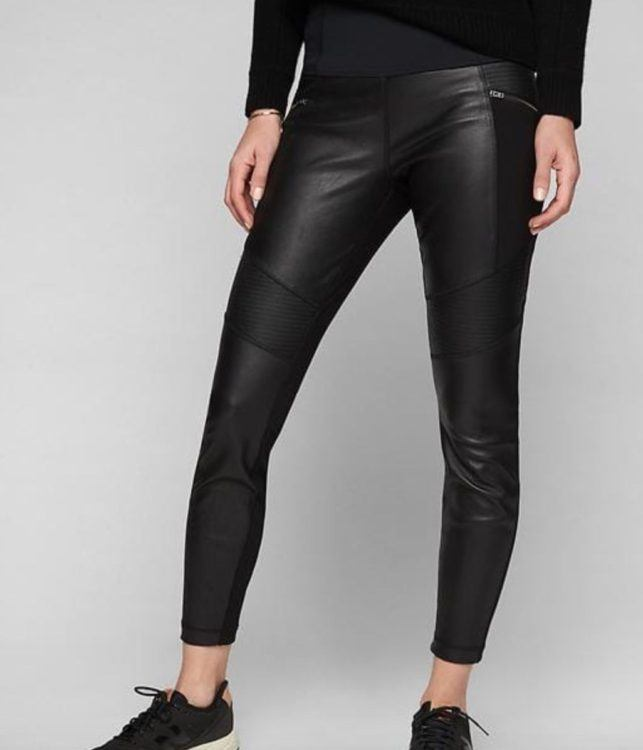luxury travel mom fashion friday athleta leather leggings and cashmere duster 3
