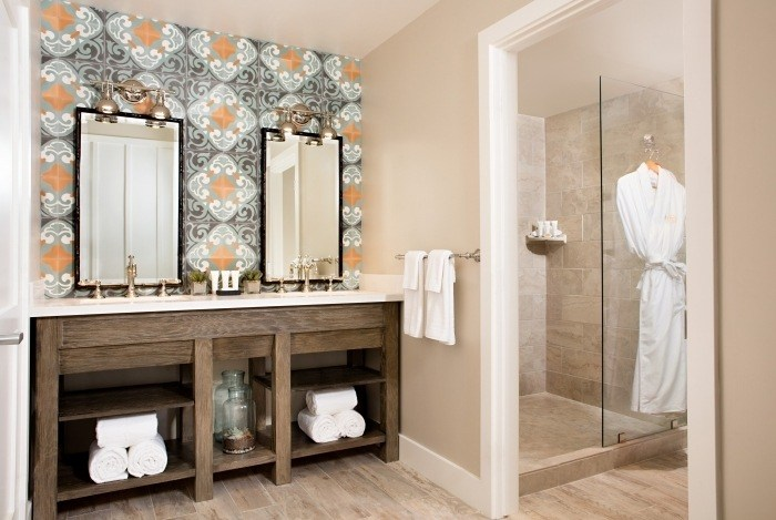 Gorgeous bathroom in suite at The Ranch at Laguna Beach