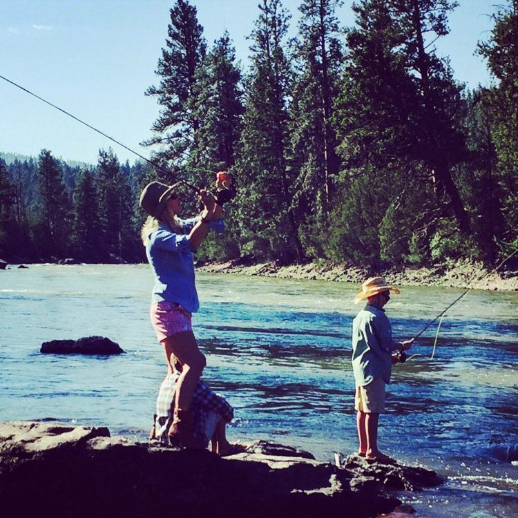 Fly fishing on the Blackfoot River at The Resort at Paws Up