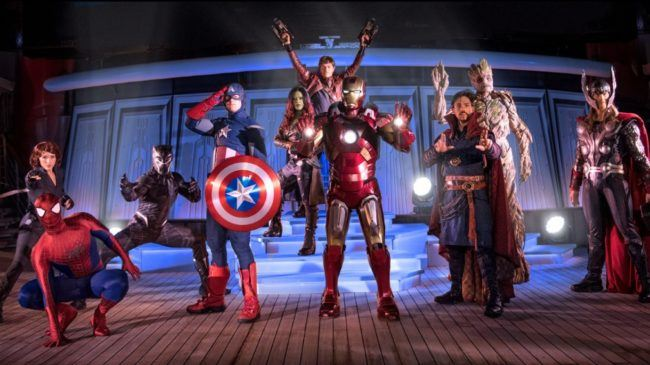 Disneyland heroes assemble